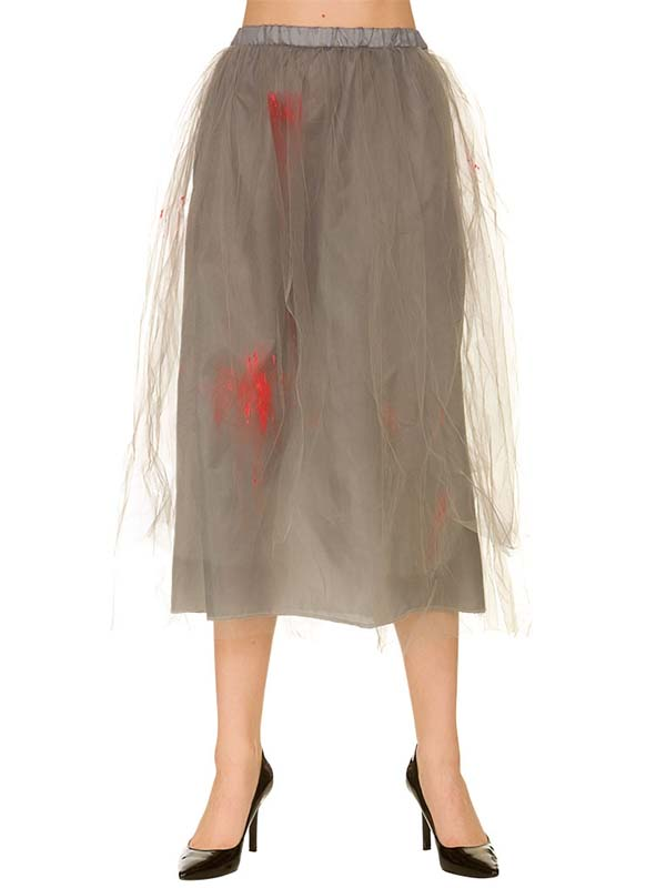 Zombie Skirt Grey With Blood