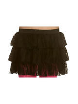 Adult 80's Lacey Ra Ra Skirt Black