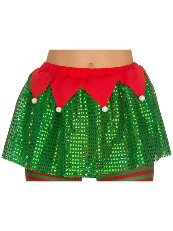 Adult Deluxe Sequinned Elf Tutu