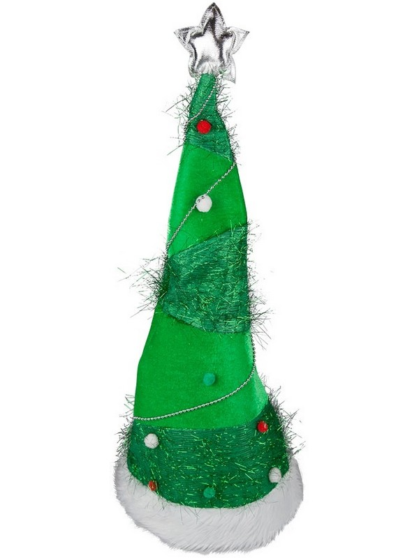 Adult Long Stand Up Xmas Tree Hat