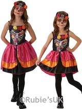 Child Girls Sugar Skull Day Of The Dead Costume