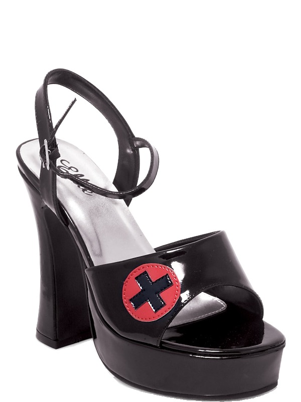 Adult Ladies Black Nurses Shoes 6-7