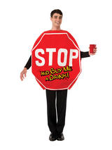 Stop Sign Fancy Dress Costume