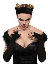 Adult Ladies Cat Ears Velvet Headband
