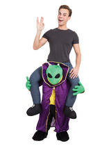 Alien Piggyback Fancy Dress Costume