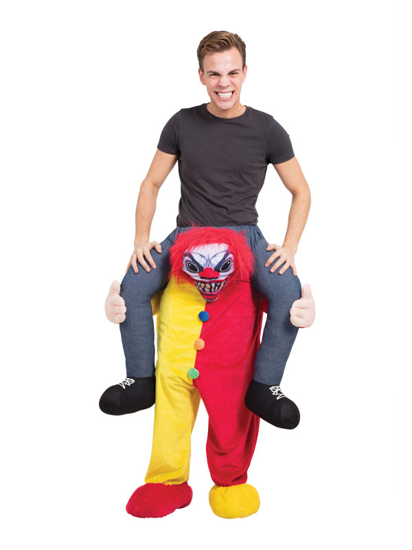 Scary Clown Piggyback Fancy Dress Costume