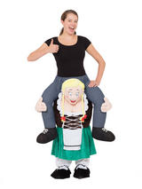 Oktoberfest Girl Piggyback Fancy Dress Costume