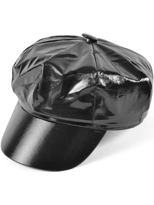 Adult Ladies Hat Black PVC Shiny