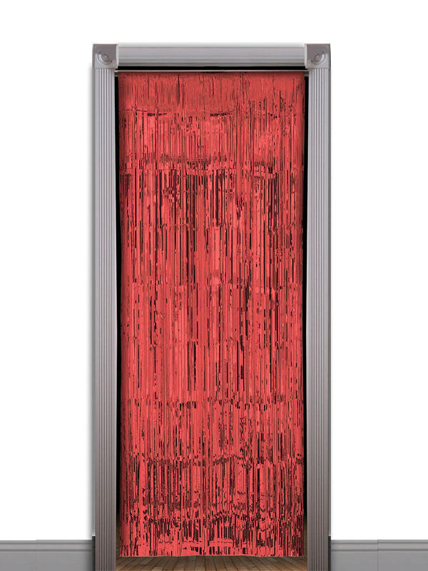 Red Tinsel Curtain