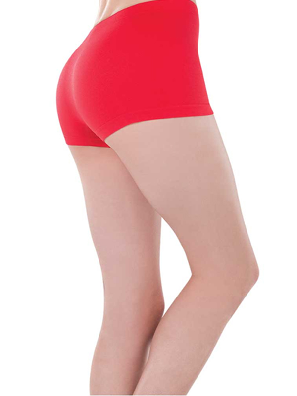 Ladies Boy Shorts Red