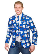 Cool Christmas Jacket & Tie Snowman