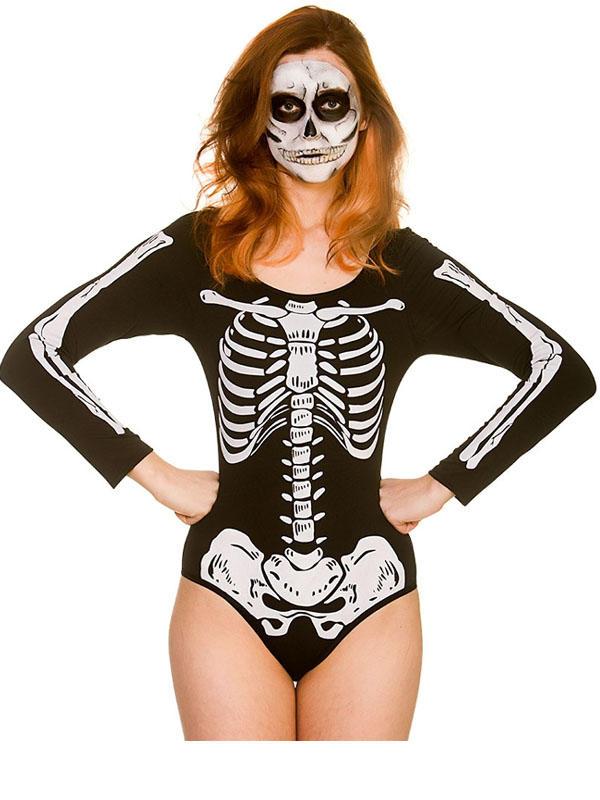 Skeleton Leotard Costume