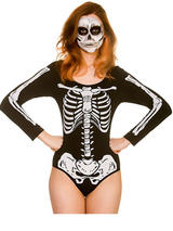 Skeleton Leotard Costume