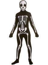 Child 2nd Skin Boys Skeleton One Piece Costume