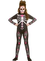 Child Candy Skull Cutie Costume One Piece