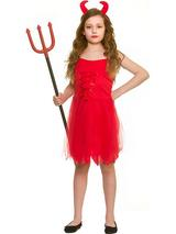 Child Girls Little Devil Costume Dress