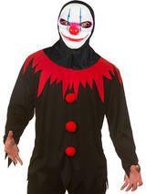 Killer Clown Shirt & Mask Costume Top