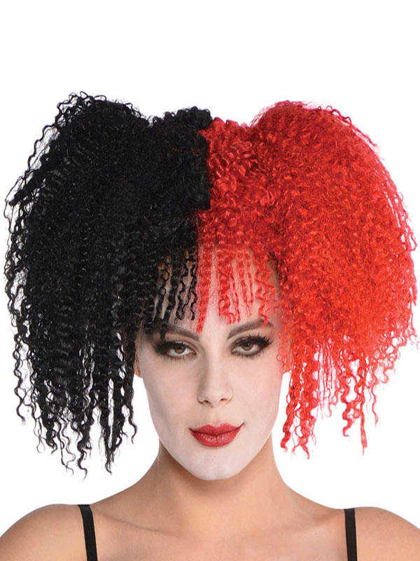 Adult Ladies Jesterina Wig Black Red