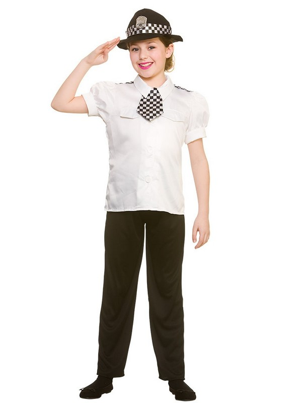 Child Policewoman Costume