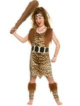Child Stone Age Cave Girl Costume