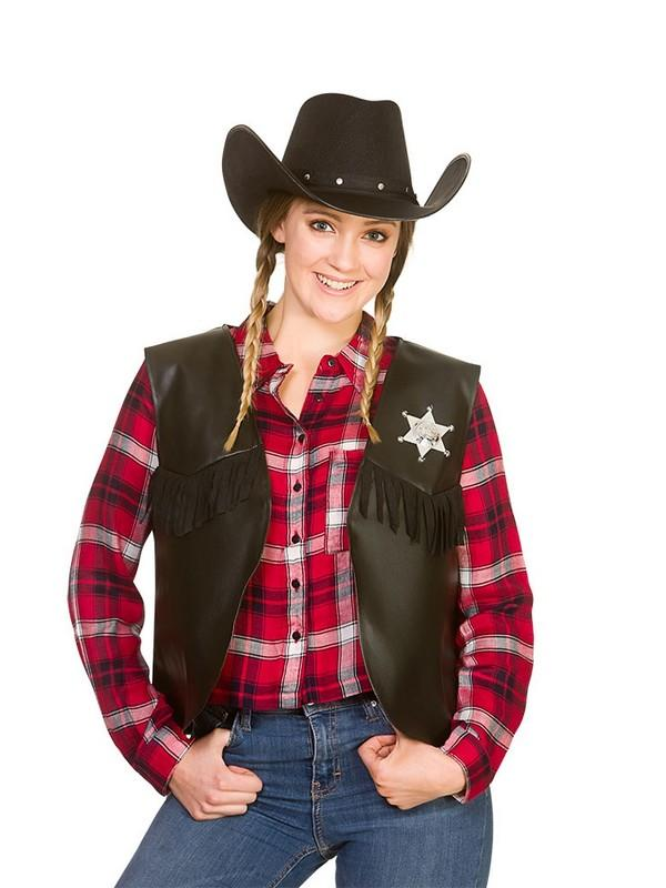 Cowboy Sheriff Waistcoat Costume Thumbnail 3