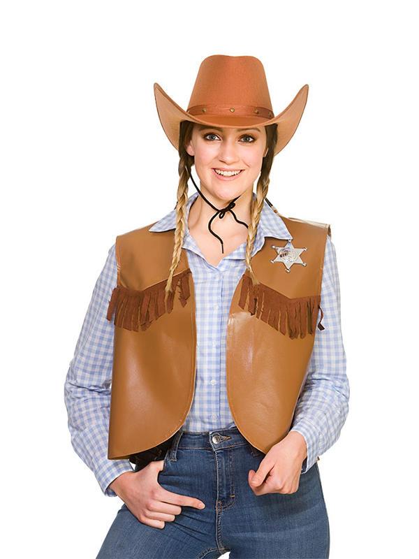 Cowboy Sheriff Waistcoat Costume Thumbnail 6