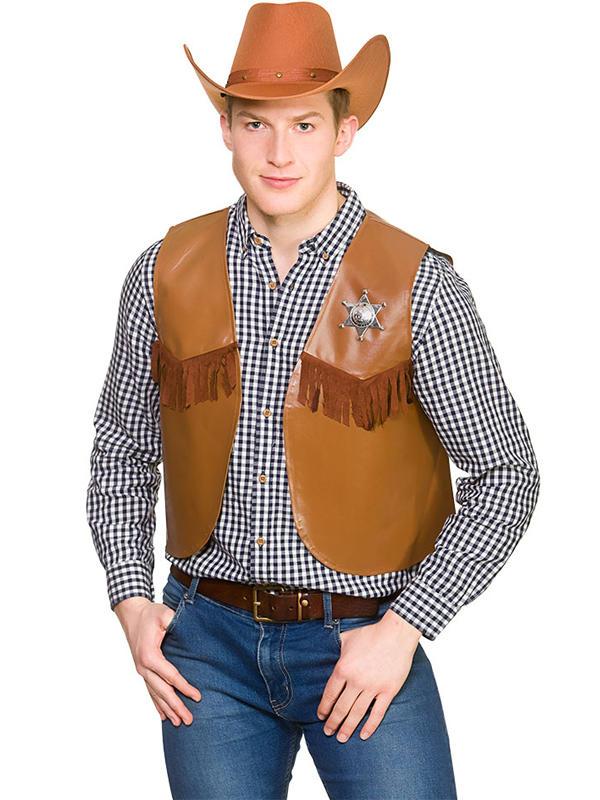 Cowboy Sheriff Waistcoat Costume Thumbnail 7
