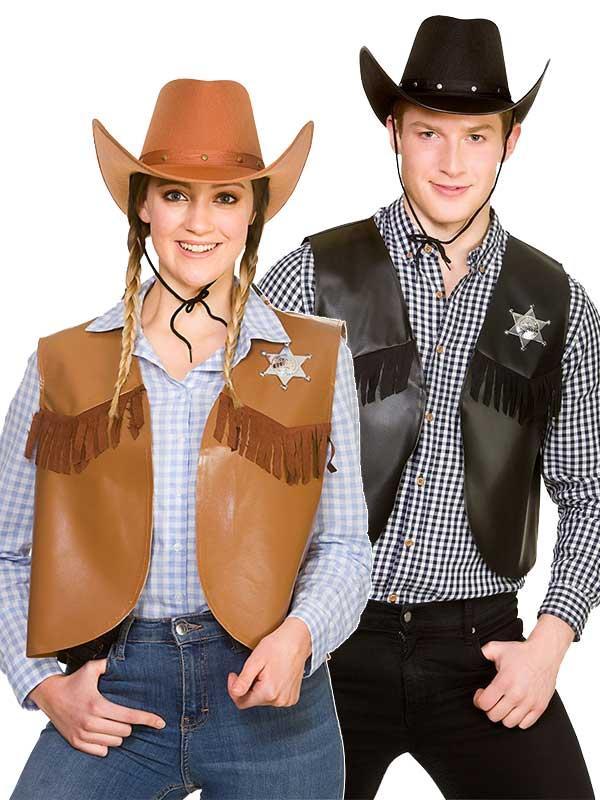 Cowboy Sheriff Waistcoat Costume Thumbnail 1