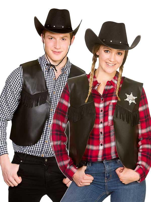 Cowboy Sheriff Waistcoat Costume Thumbnail 2
