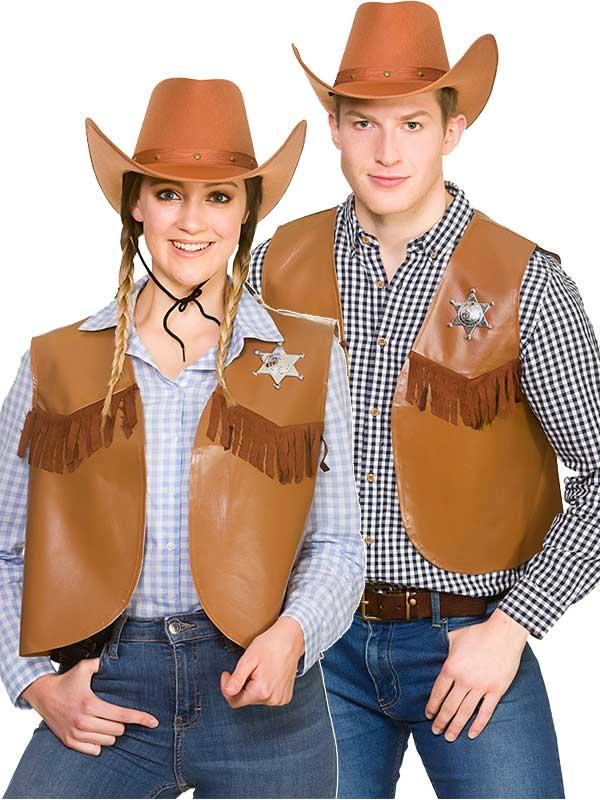 Cowboy Sheriff Waistcoat Costume Thumbnail 5