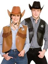 Cowboy Sheriff Waistcoat Costume