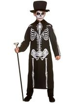 Child Boys Day Of The Dead Skeleton Costume