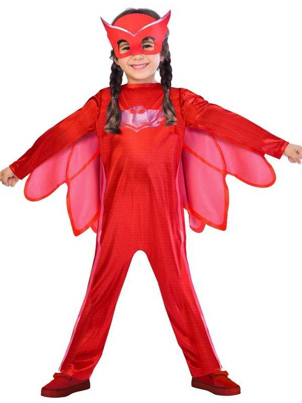 Official UK PJ Masks Girls Owlette Superhero Kids Child New Fancy Dress Costume