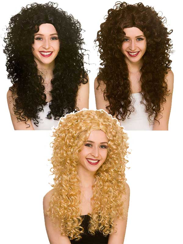 Adult Ladies Long Curly Wig