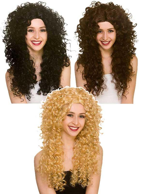 Adult Ladies Long Curly Wig Thumbnail 1