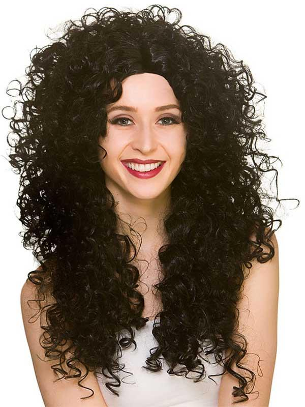 Adult Ladies Long Curly Wig Thumbnail 2