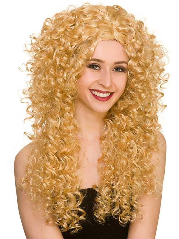 Adult Ladies Long Curly Wig Thumbnail 3
