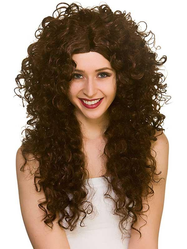 Adult Ladies Long Curly Wig Thumbnail 4
