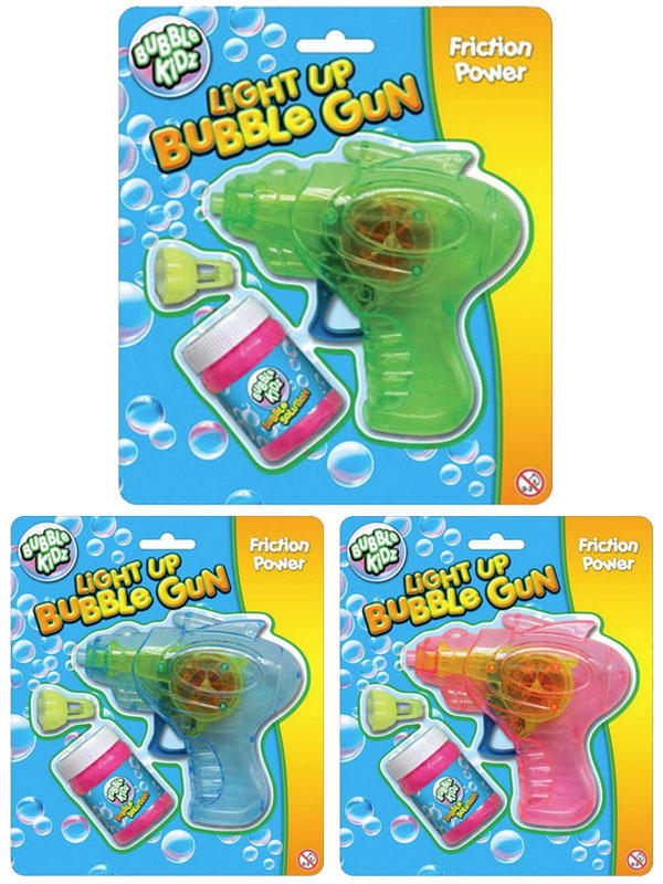 Light Up Friction Bubble Gun