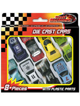 8 Die Cast Cars