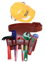 Plastic Construction Helmet With Tools