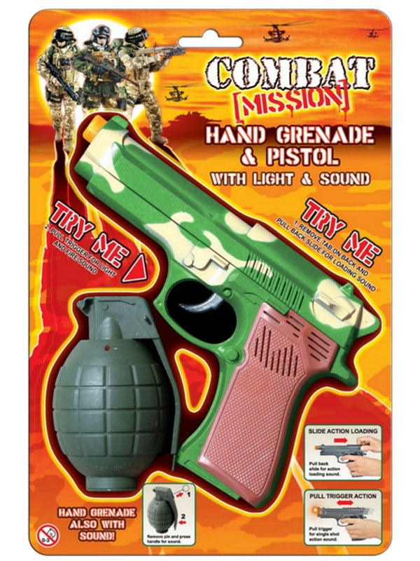 Handgrenade & Pistol With Sound & Light
