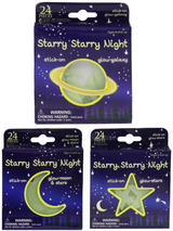 Glow In The Dark Moon & Stars In Window Box/Display Box