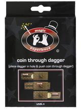 Coin Through Dagger Trick In Peg Box