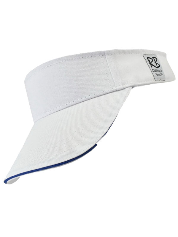 White Cotton Visor With Comfort Band