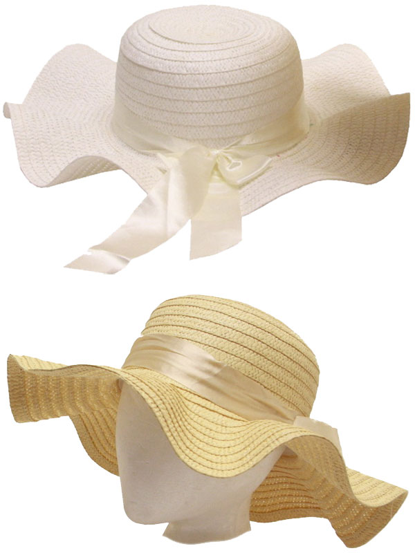 Ladies Floppy Hat With Flower Band