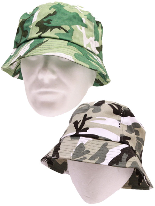 Adult Camouflage Bucket Hat 58cm