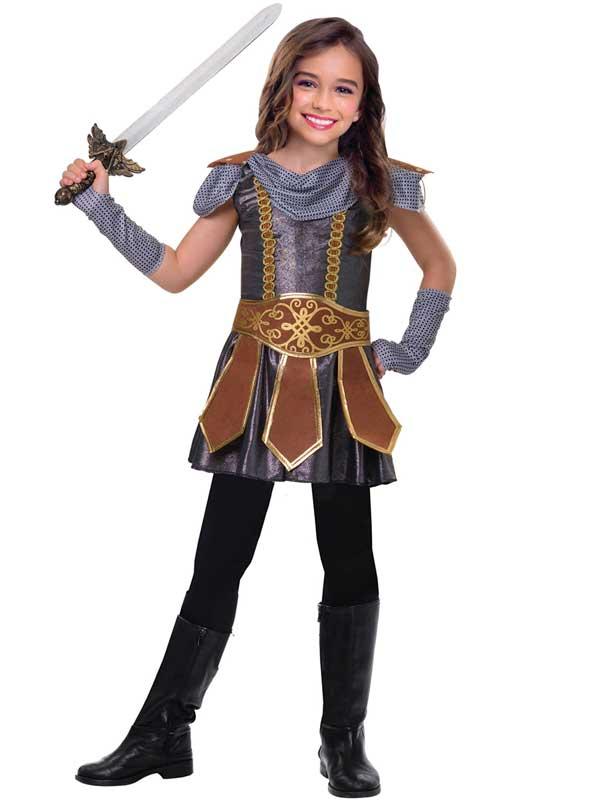 Warrior-CUTIE-Ragazze-costume-vichingo-Cavaliere-Medievale-Libro-Giorno-Costume