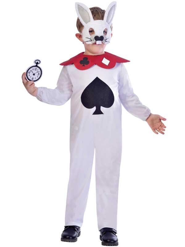 Child White Rabbit Costume & Mask