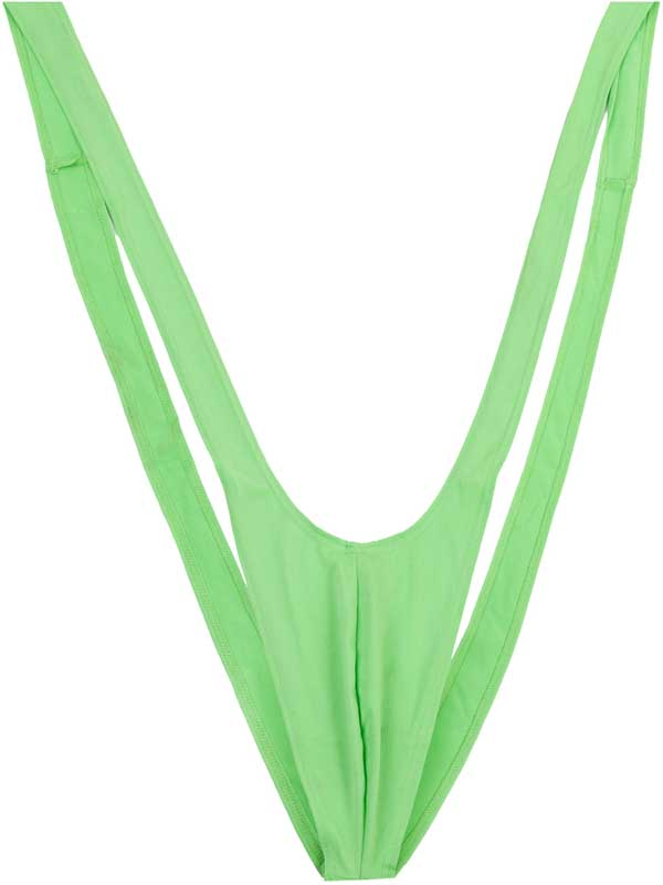 Adult Mens Green Mankini